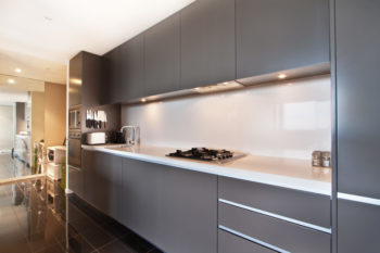 Modern gourmet kitchen interior