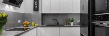 Modern kitchen, panorama