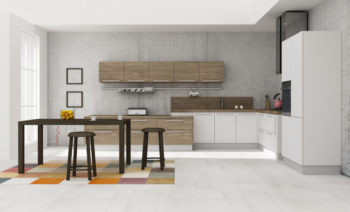Kitchen interior 3D rendering
